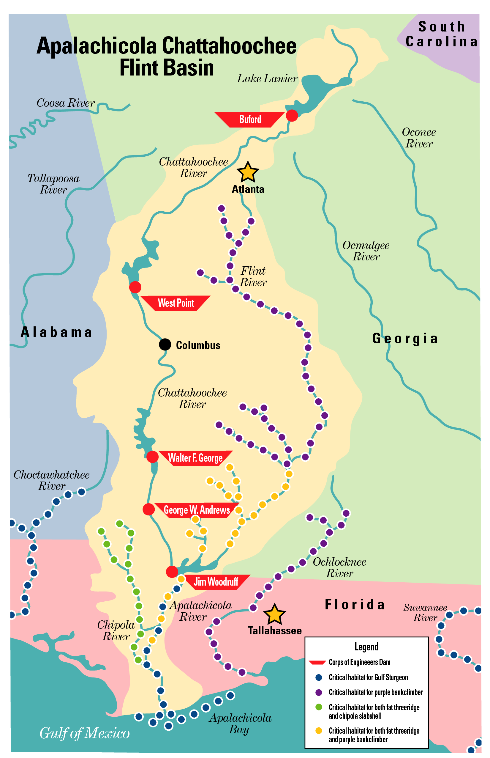 Florida Pursuing Suit Against Georgia In US Supreme Court For - Map of florida in us