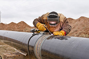 Welding on Gas Pipeline